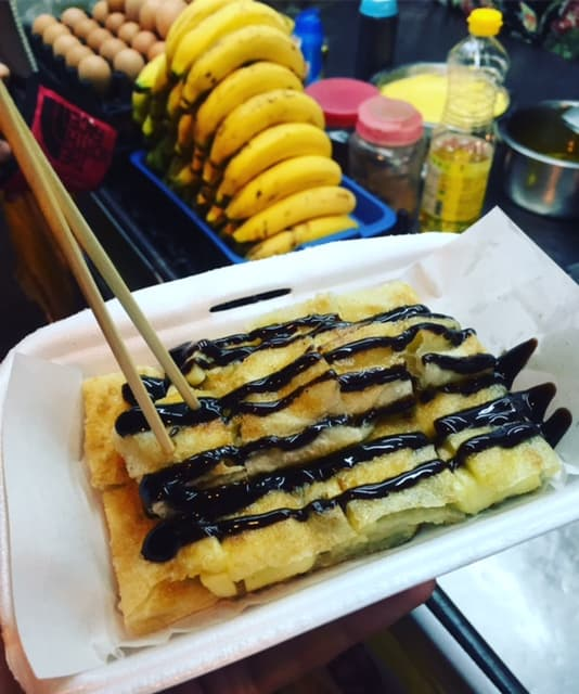 The Best Street Food in Asia - Chocolate Banana Roti