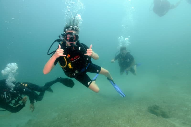 Yaz diving in Krabi, Thailand
