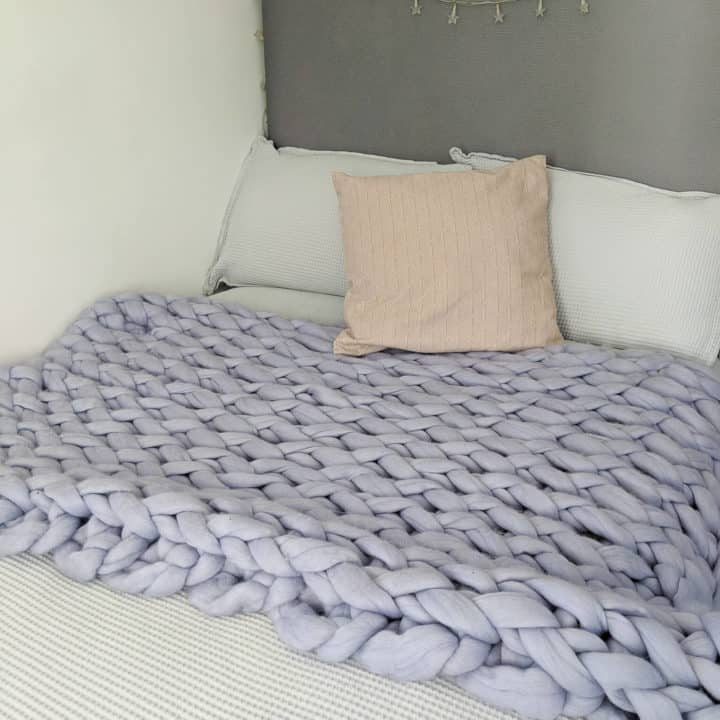 how to make a chunky knit blanket