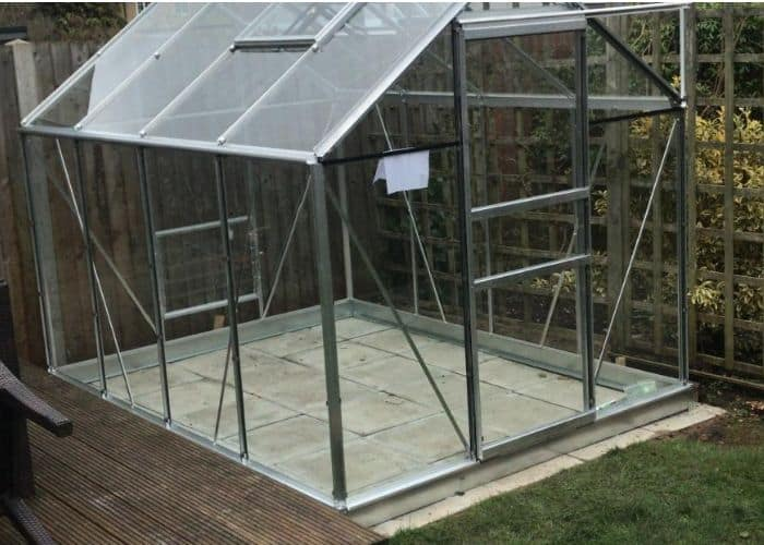Green house for growing vegetables.