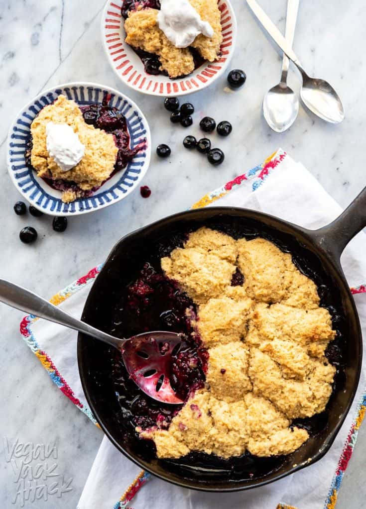 Grilled Blackberry Cobble