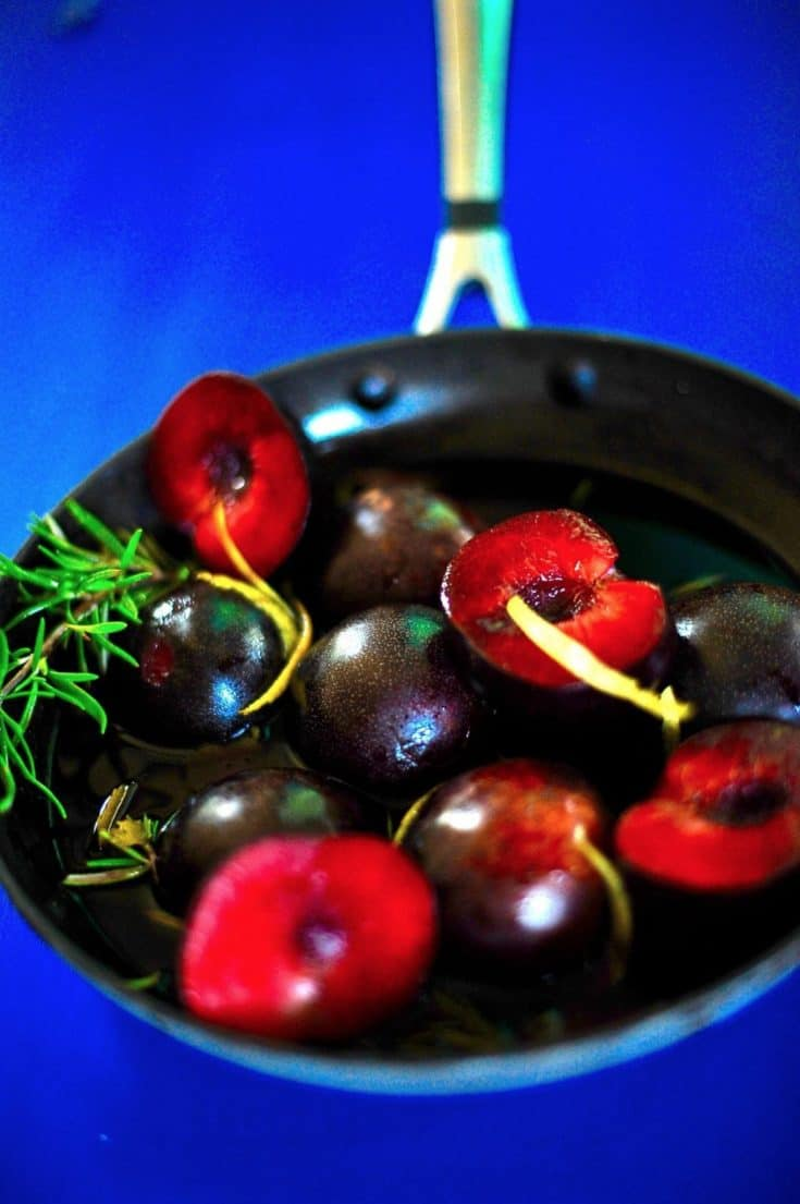 Roasted Plums In Port Sauce