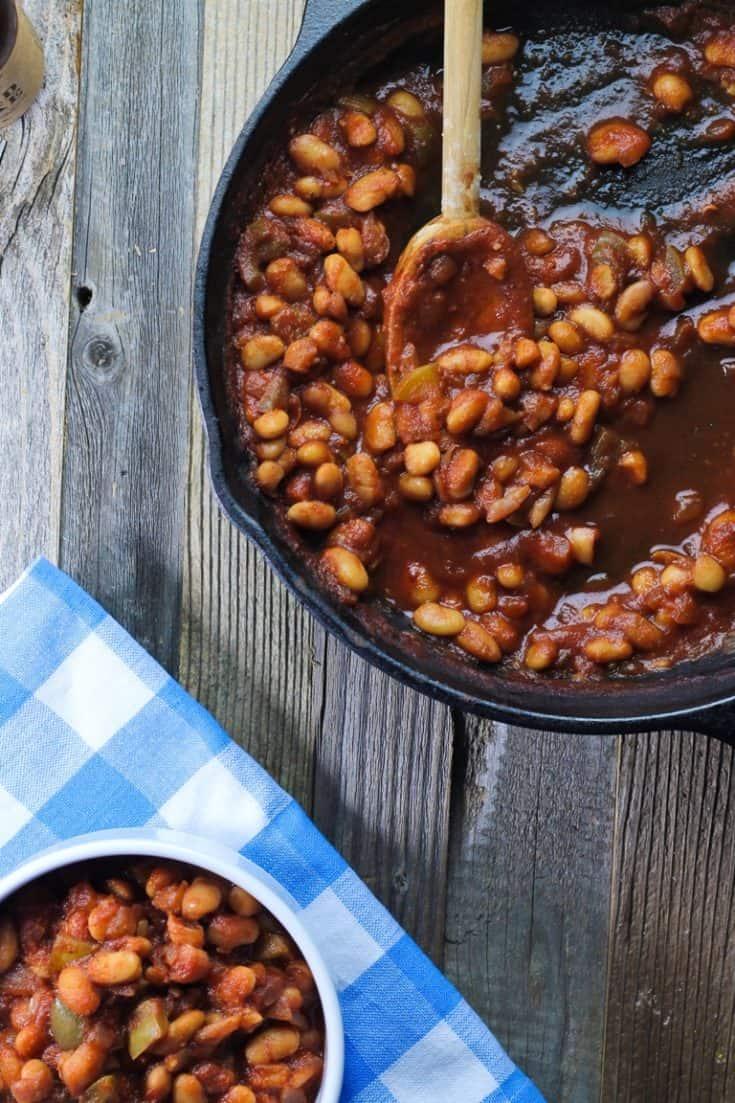 Vegan Skillet BBQ Baked Beans