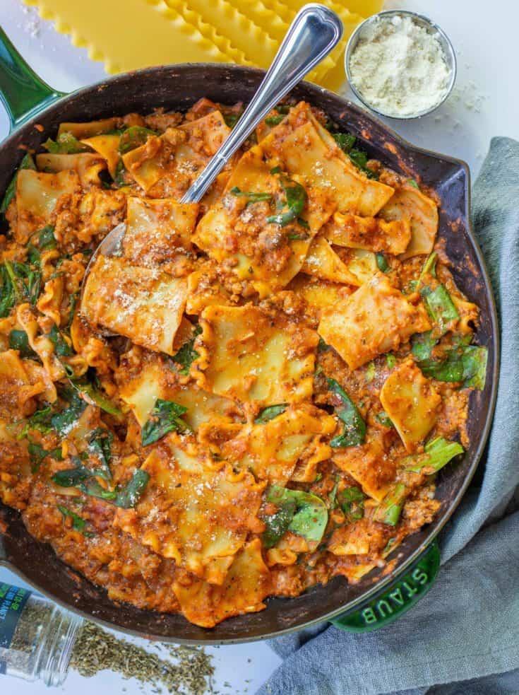 'Beefy' Skillet Lasagna