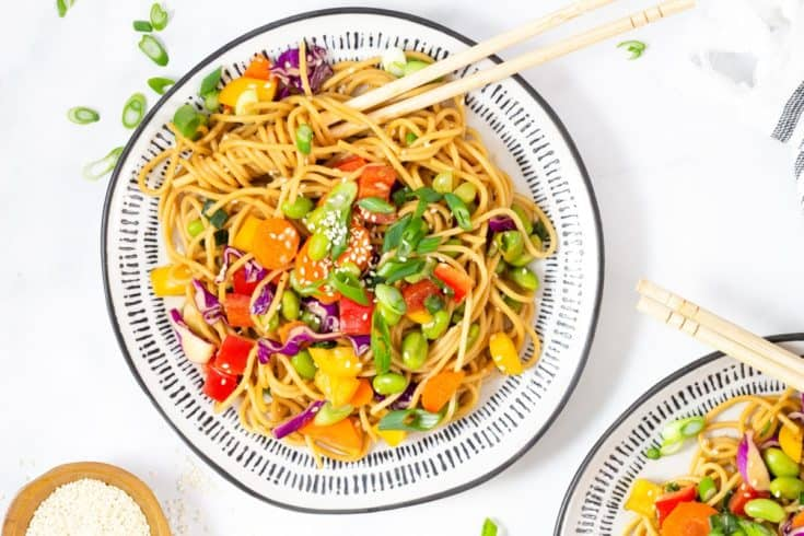 Sesame Ginger Asian Pasta Salad