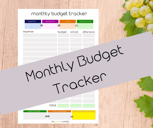 Budget planner book: The Wallet Moth monthly budget tracker