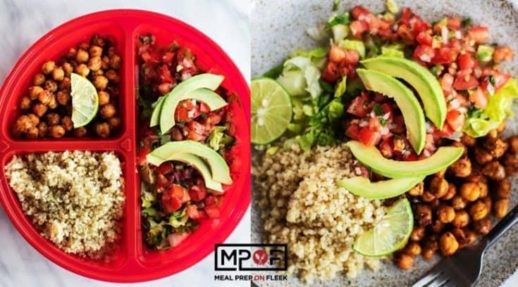 Quinoa Chickpea Taco Bowls