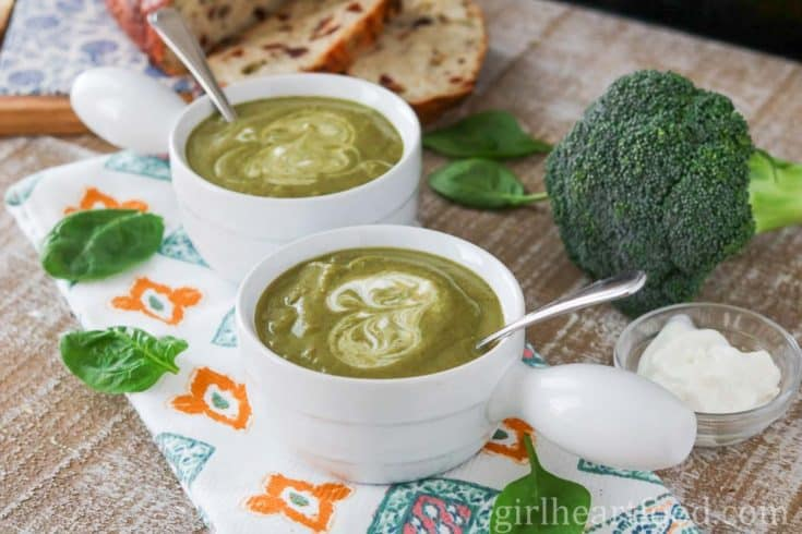 Vegan Broccoli Soup with Spinach