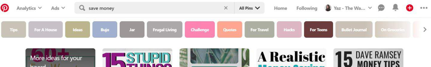 Pinterest for bloggers: finding keywords