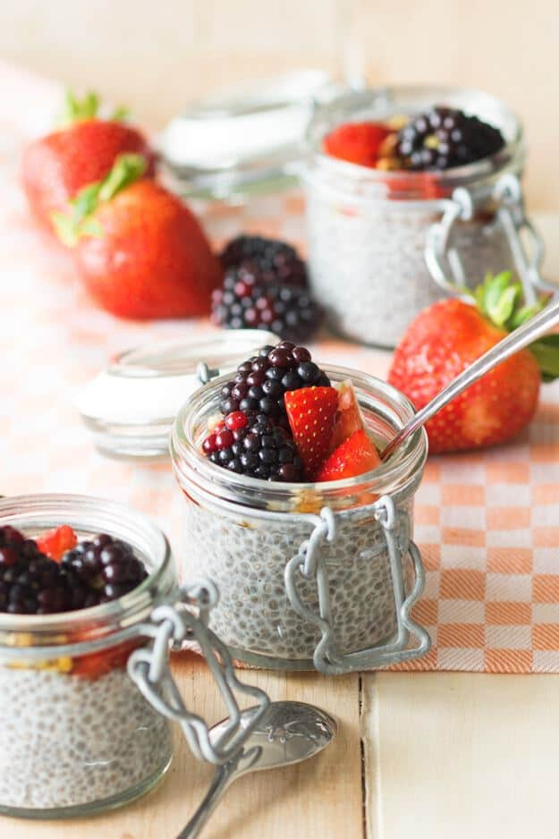 Vegan Meal Prep Breakfast Ideas: Chia Pudding