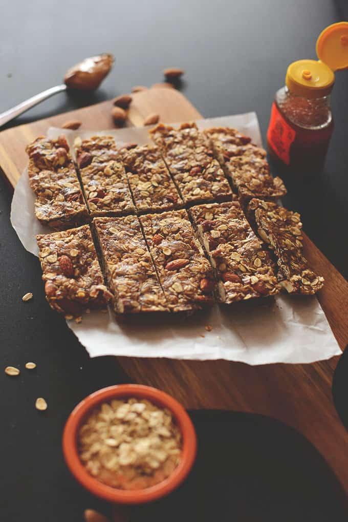 5-ingredient vegan granola bars