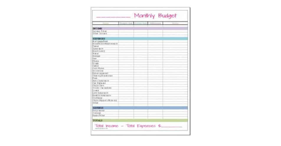 Frugal Fanatic printable for a home-made budget planner book