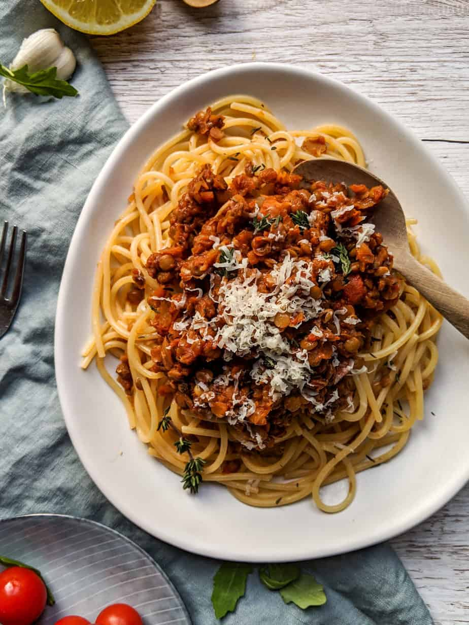 By The Forkful Lentil Bolognese