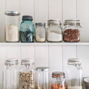 Storage jars are a great kitchen organization ideas