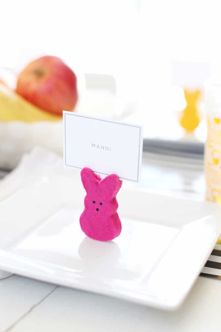 Peeps Bunny Place Card Holders