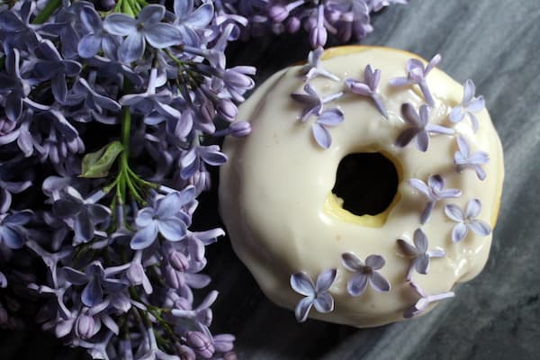 Lilac Donuts: Edible Flower Donuts with Lilacs