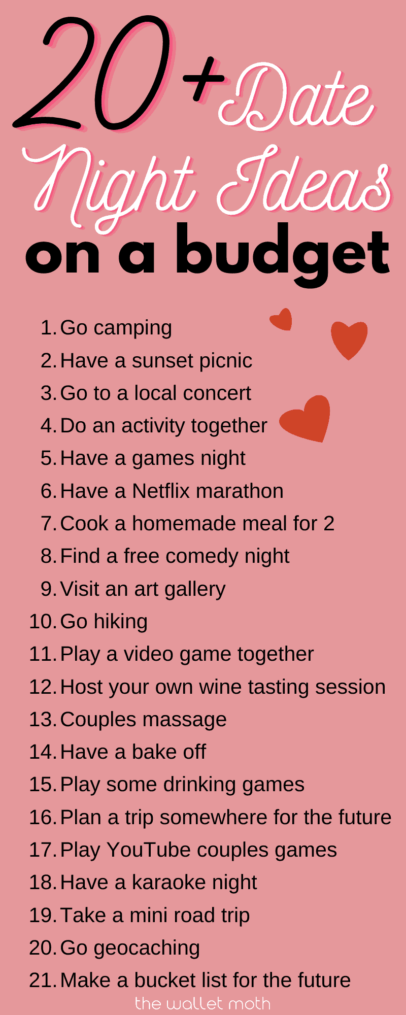 20+ at home date night ideas for frugal couples on a budget